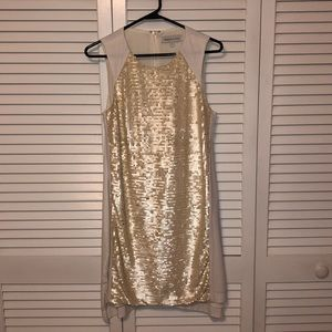 Sequin front dress.